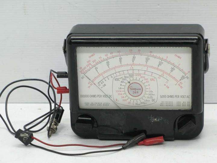 Electrical Test Meters : Simpson electronics ultra high sensitivity volt ohm